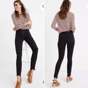 "MADEWELL Jeans Petite 10"" High-Rise Skinny Button"